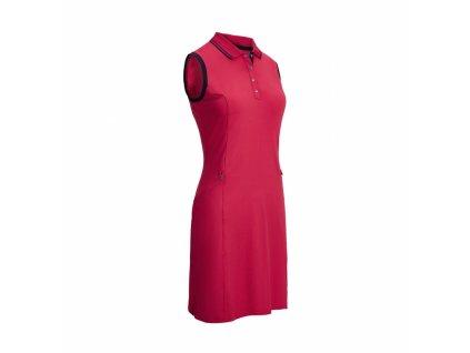 CALLAWAY dámské šaty Solid Ribbed Tipping růžové