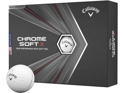 CALLAWAY Chrome Soft X 20 golfové míčky bílé (12 ks)
