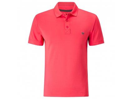 CALLAWAY pánské tričko X Solid Polo II růžové (Velikost oblečení L)