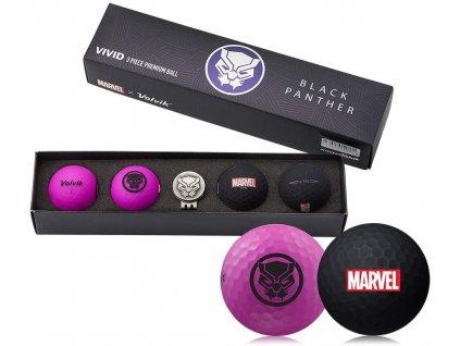 VOLVIK MARVEL dárkové balení míčků Black Panther