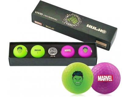 VOLVIK MARVEL dárkové balení míčků HULK