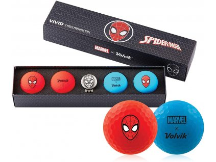 VOLVIK MARVEL dárkové balení míčků Spider Man