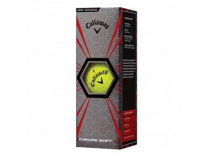 CALLAWAY golfové míčky Chrome Soft X 17 žluté (3 ks)