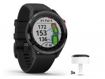 GARMIN golfové hodinky Approach S62 Black Bundle