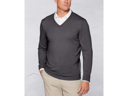 callaway apparel tour authentic cashmere v neck sweater flannel heather xl 11775644467305 1350x