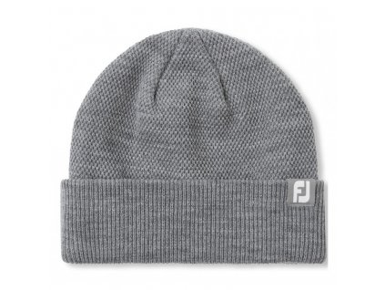 zimni golfova cepice footjoy knit beanie šedá