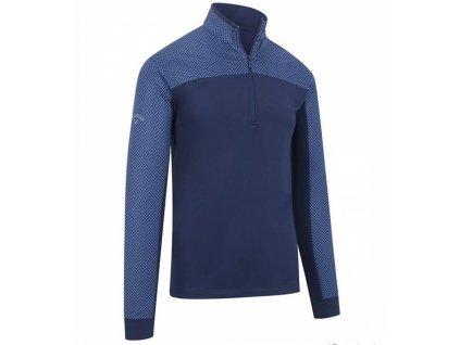 CALLAWAY Herringbone 1/4 Zip pánská golfová mikina tmavě modrá
