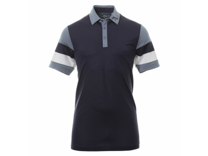CALLAWAY pánské tričko Colourblock Pique tmavě modré