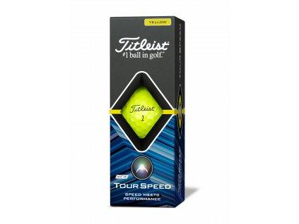 TITLEIST Tour Speed golfové míčky žluté - 12 ks