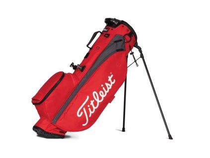 TITLEIST Players stand bag na záda červeno-šedý