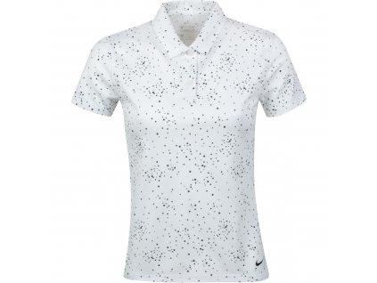 NIKE Dry-Fit Printed Short-Sleeve dámské tričko bílé