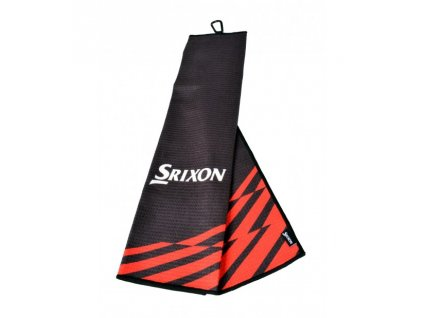 SRIXON ručník Tri-fold černo-červený