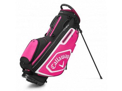 CALLAWAY Chev stand bag černo-růžový