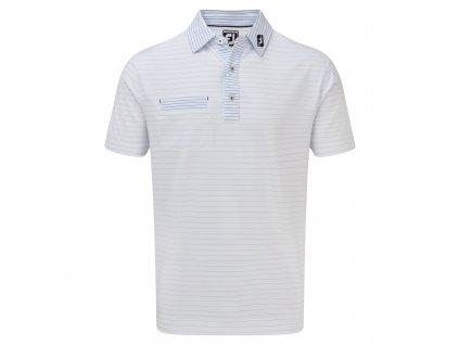 FOOTJOY Lisle Pinstripe Mix pánské tričko bílé