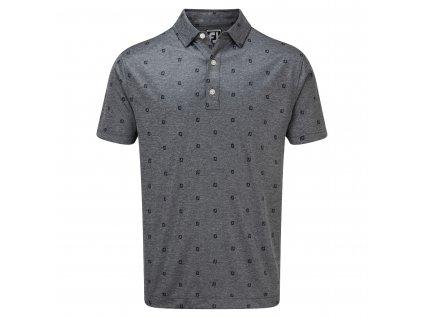 FOOTJOY Smooth Pique FJ Tonal Print pánské tričko modré