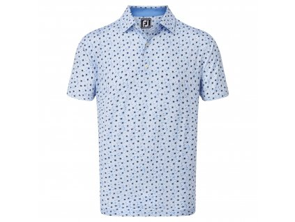 FOOTJOY Lisle Daisy Print pánské tričko bílo-modré