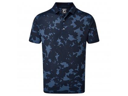 FOOTJOY Pique Camo Floral Print pánské tričko modré