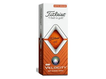 TITLEIST Velocity míčky matné oranžové - 3 ks