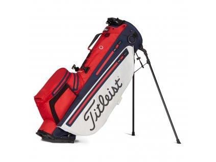 TITLEIST Players 4+ Sta Dry Stand bag červeno-bílý