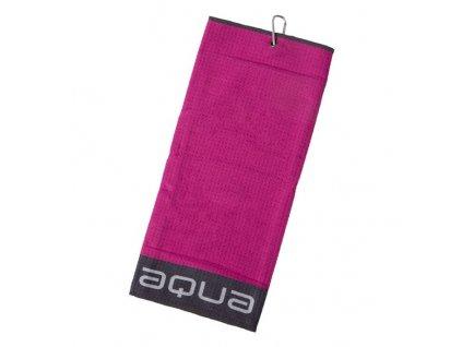 BIG MAX Aqua Trifold ručník fialovo-šedý