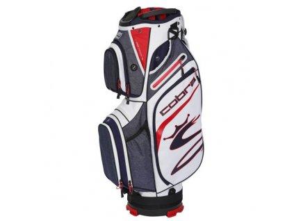 COBRA Ultralight cart bag červeno-bílý