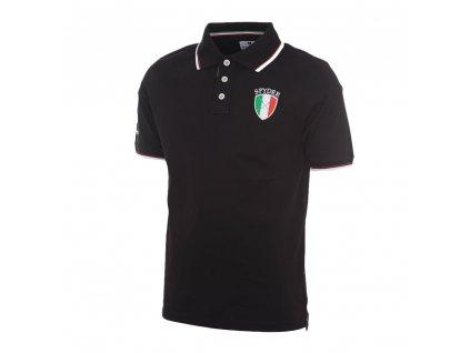 TONINO LAMBORGHINI pánské tričko jersey polo černé