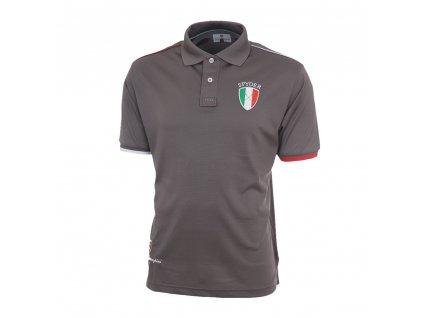 TONINO LAMBORGHINI pánské tričko piquet polo print šedé