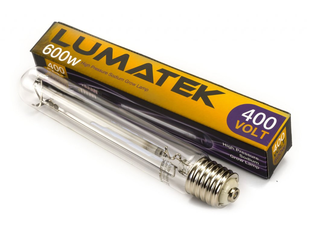 Elektronický předřadník Lumatek Ultimate PRO 600W s výbojkou, 400V, IEC konektor