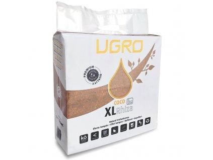 Lisovaný kokos U Gro XL RHIZA - po rehydrataci 70l kokosového substrátu. Obsahuje trichodermu