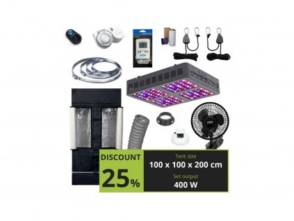 MEDIUM 400w (100x100x200cm) + Viparspectra V600