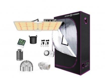 Nové SF2000 LED Grow Light Full Spectrum+2'x4' Grow Tent Kits