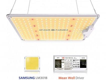 Nové Spider farmer SF1000 LED Grow Light With Dimmer Knob Full Spectrum Samsung diodes QB