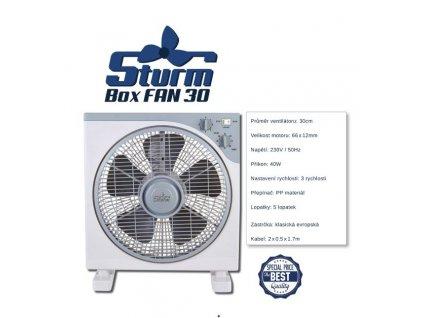 Oscilační ventilátor STURM BOXFAN, průměr 30cm