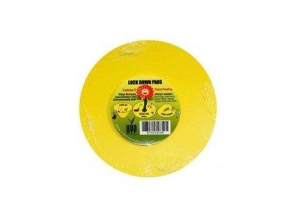 Kulaté desky lepové žluté Lock down pads, 15cm, 8ks