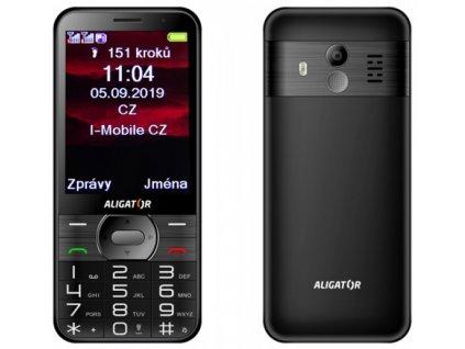 Mobilní telefon ALIGATOR A900 Senior černý + stolní nabíječka