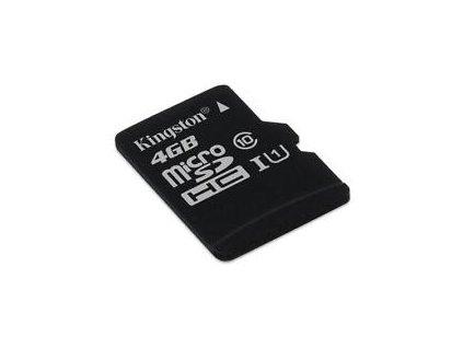 Kingston Micro SDHC 4GB Class 10 + SD adaptér