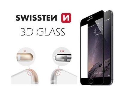 OCHRANNÉ TEMPEROVANÉ SKLO SWISSTEN 3D GLASS APPLE IPHONE 6/6S ČERNÉ