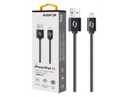 Datový kabel ALIGATOR 2A iPhone lightning 1m, černý