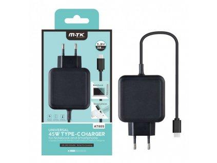CD PLUS AT805 USB-C pro Notebooky a Smarphony, 3A, černá