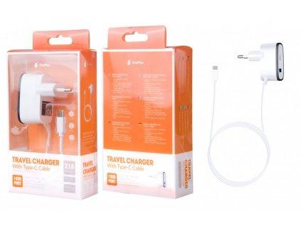Nabíječka PLUS P5418, kabel USB-C + USB výstup 5V/2,1A - černá