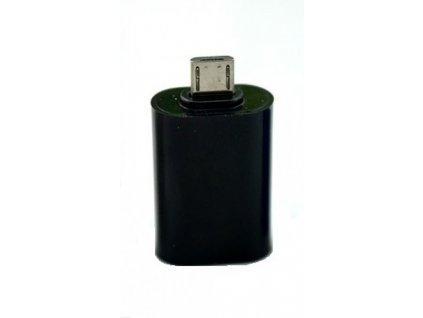 Adaptér microUSB/USB (OTG) černý