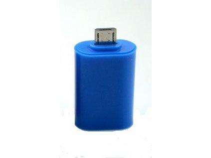 Adaptér microUSB/USB (OTG) modrý