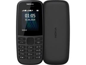 nokia 105 front back Black s