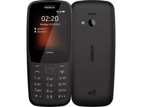 nokia 220 4G front back Black s