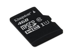 Kingston Micro SDHC 4GB Class 10 + SD adaptér