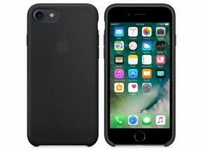 Originální Silikonové pouzdro APPLE (Black) iPhone 7/8