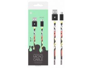 Datový kabel PLUS P5747 Micro USB ,2A, 1M, vzor černý