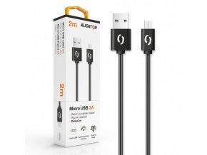 Datový a nabíjecí kabel ALIGATOR 2A micro USB 2m, černý