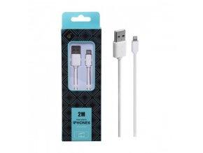 Datový kabel PLUS AA103 pro iPhone, 2M - bílý