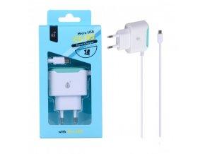 Nabíječka PLUS CS103 s kabelem MicroUSB 5V/1A, bílá